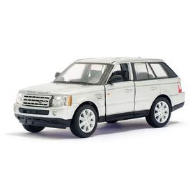 Машина металлическая Range Rover Sport, 1:38, открываются двери, инерция, цвет серый