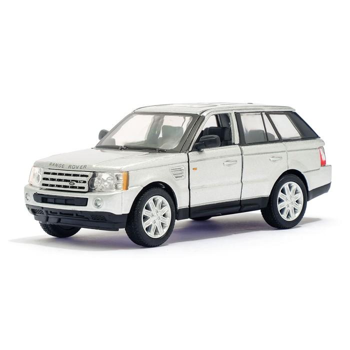 Машина металлическая Range Rover Sport, 1:38, открываются двери, инерция, цвет серый - фото 1017883
