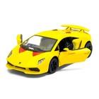 Машина металлическая Lamborghini Sesto Elemento, 1:38, открываются двери, инерция, цвет жёлтый - фото 105651641