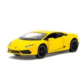 Машина металлическая Lamborghini Huracan LP610-4, 1:36, открываются двери, инерция, цвет жёлтый