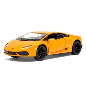 Машина металлическая Lamborghini Huracan LP610-4, 1:36, открываются двери, инерция, цвет оранжевый
