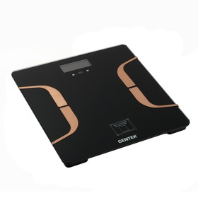 Весы напольные Centek CT-2431, до 180 кг, с анализатором массы, черно-золотые