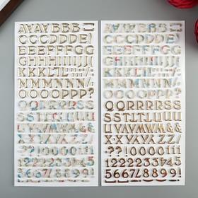 Стикеры-алфавит из фоамирана BoBunny - Коллекция «Boulevard» (298 шт)