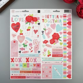 Стикеры из кардстока Pink Paislee - Коллекция Lucky Us (76 шт)