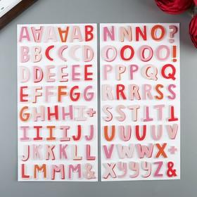 Набор Стикеров-алфавит из фоамирана Pink Paislee  - Коллекция Lucky Us (92 шт)
