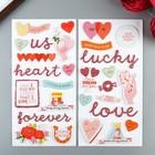 Набор стикеров из чипборда Pink Paislee  - Коллекция Lucky Us (28 шт)