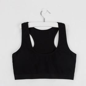 Топ для девочки, цвет чёрный, рост 134-140 см
