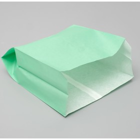 Пакет бумажный фасовочный, мятный,  V-образное дно, 23,9 х 20 х 9 см