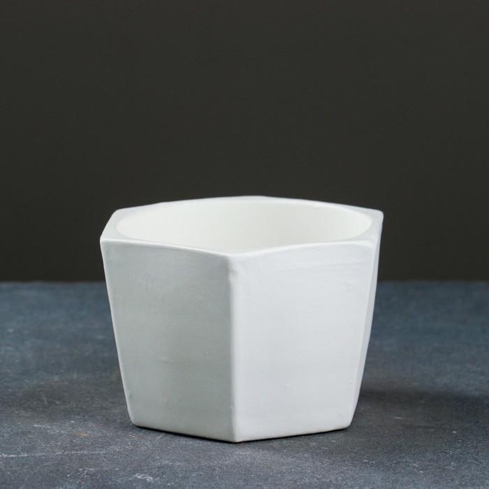 Горшок цветочный Эджес белый 0,75 л - фото 836292
