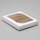 Кондитерская упаковка под 4 эклера, белая, 25 х 20 х 4,5 см