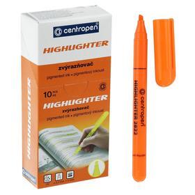 Маркер текстовыделитель, Centropen 2822, 3.0 мм, флуоресцентный, оранжевый