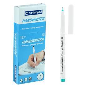 """Ручка капиллярная Centropen 2551 0,5 мм зелёная """"Handwriter"""", трехгранная"""