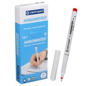 """Ручка капиллярная Centropen 2551 0,5 мм красная """"Handwriter"""", трехгранная"""