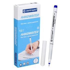 """Ручка капиллярная, 0,5 мм, Centropen """"Handwriter"""" 2551, синяя, картонная упаковка"""