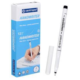 """Ручка капиллярная, 0,5 мм, Centropen """"Handwriter"""" 2551, черная, картонная упаковка"""