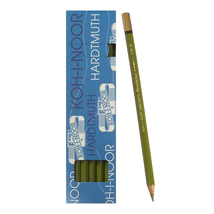 Карандаш акварельный Koh-I-Noor Mondeluz 3720/027, l=175 мм, грифель= 3,8 мм, оливковый тёмный
