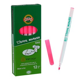 Маркер для ткани 3.0 мм Koh-I-Noor 3203/72, длина письма 500 м, флуоресцентный розовый