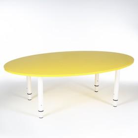Стол Овальный растущий гр.0-3 на металлокаркасе, Желтый