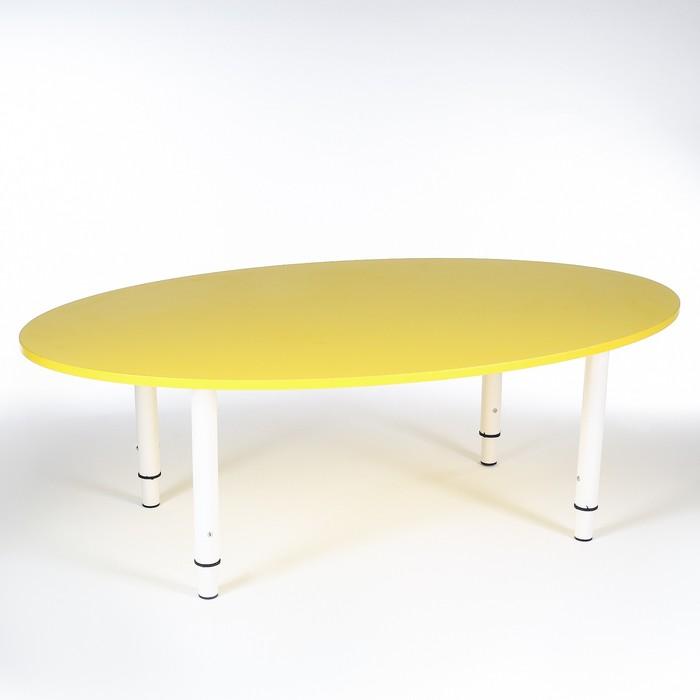 Стол Овальный растущий гр.0-3 на металлокаркасе, Желтый - фото 105454971