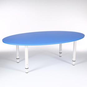 Стол Овальный растущий гр.0-3 на металлокаркасе, Синий
