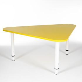 Стол Треугольник растущий гр.0-3 на металлокаркасе, Желтый