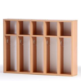 Шкаф для полотенец 5-ти местный, Бук бавария