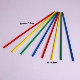 Tube d/balls, flagpoles and cotton candy, D 5,4 mm, наб100 pieces, MIX 52380100A