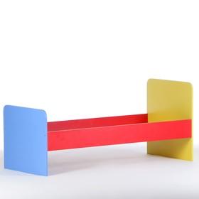 Кровать детская 1-ярусная, 1200х600х650/520, Цветная