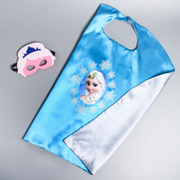 Карнавальный плащ «Почувствуй себя принцессой!», маска, длина 65 см, Холодное сердце