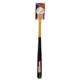 """Набор для бейсбола Wilson Tee Ball Kit, арт.X5356, дерев.бита 24"""", бейсб. мяч, блистер 2943"""