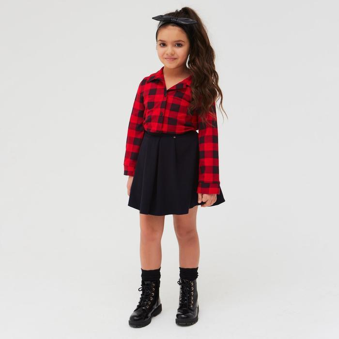 Рубашка детская «Техас», цвет красный, рост 110 см - фото 76125362