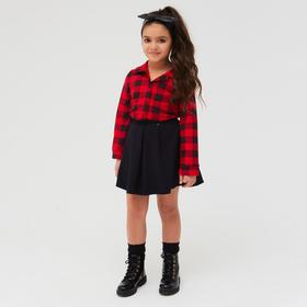Рубашка детская «Техас», цвет красный, рост 128 см