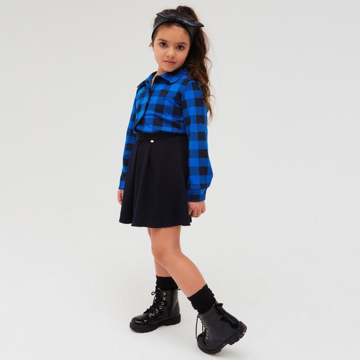Рубашка детская «Техас», цвет синий, рост 110 см