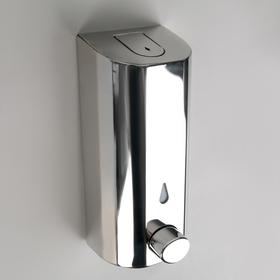 Диспенсер для жидкого мыла механический, 350 мл, нержавеющая сталь, закрывается на ключ