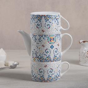 {{photo.Alt || photo.Description || 'Набор чайный «Орнамент», 3 предмета: чайник 300 мл, 2 кружки 200 мл, рисунок МИКС'}}
