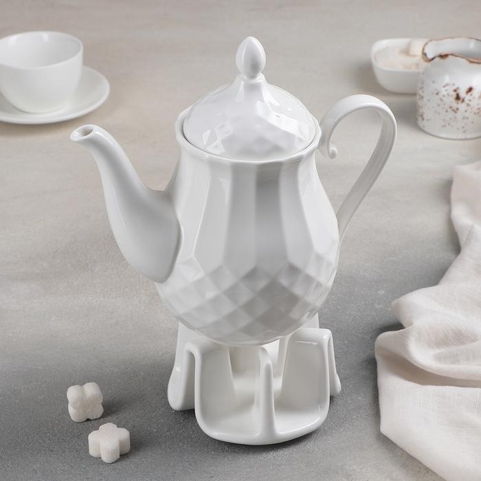 Чайник заварочный «Чайхана», 1 л, на керамической подставке - фото 244754