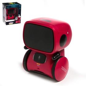 Робот интерактивный «Милый робот», световые и звуковые эффекты, цвет красный
