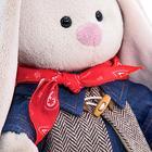 Мягкая игрушка «Зайка Ми в джинсовом платье», 25 см - фото 105613679