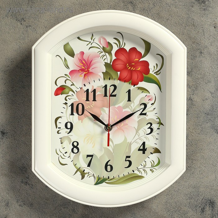"""Часы настенные круглые """"Цветы"""""""