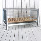 Клетка, 100 × 55 × 70 см, на 25–40 голов, с деревянным поддоном, металлическая