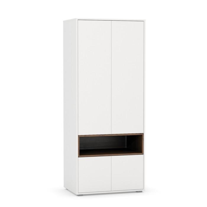 Шкаф для одежды 10.74, 790х524х1900, Орех селект каминный/Белый премиум
