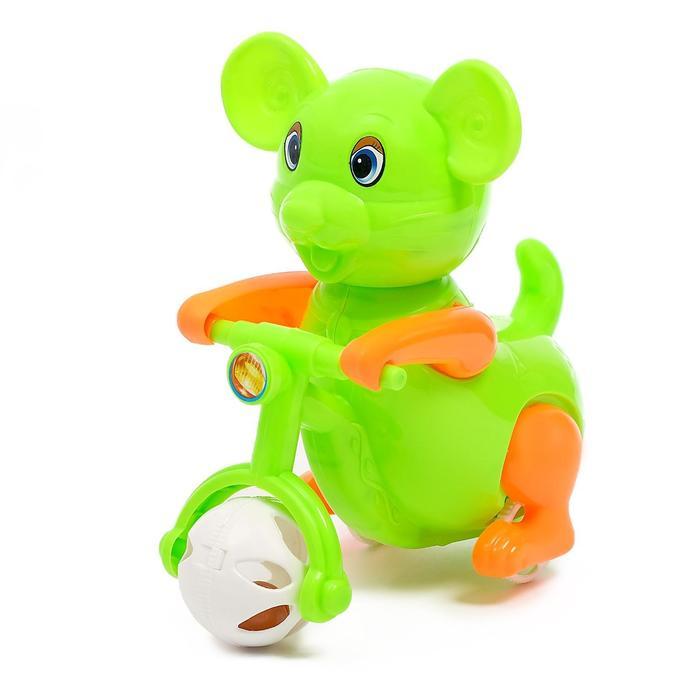 Заводная игрушка «Зверёк на велосипеде», МИКС
