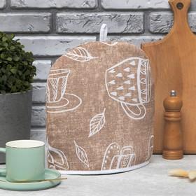 "Грелка на чайник ""Доляна"" Cup of tea 28х28см, МИКС,100% хл,164г/м2"