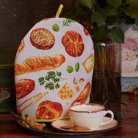 "Грелка на чайник ""Доляна"" Bread 28х28см, МИКС,100% хл,164г/м2"