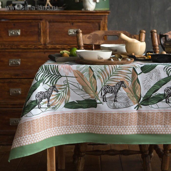 "Tablecloth ""Share"" Modern kitchen 220х144 cm, 100% cotton, 164 g/m2"