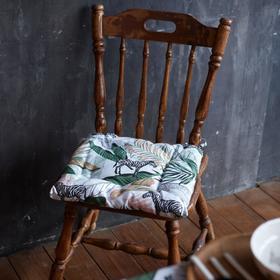 Сидушка на стул Доляна Modern kitchen 42х42х7см, МИКС,100% хл,164 г/м2