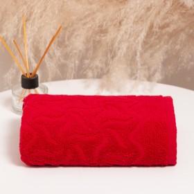 Полотенце махровое «Радуга» 100х150 см, цвет красный, 295г/м2
