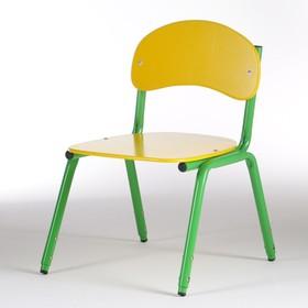 Стул детский штабелируемый Сема гр.1-3, Желтый/Зеленый