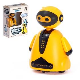 Робот «Умный бот», ездит по линии, световые эффекты, цвет оранжевый