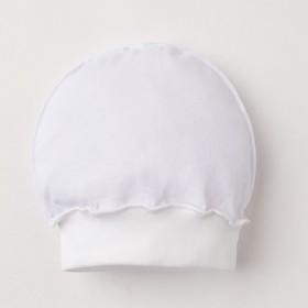 Шапочка детская, цвет белый, размер 36 см